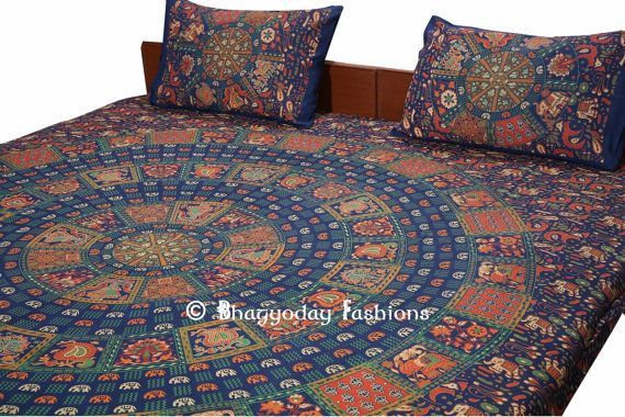 Hippie Hippy Wall Hanging , Indian Mandala Tapestry Throw Bedspread , Dorm Tapestry , Vintage Decorative Wall Hanging , Picnic Beach Sheet