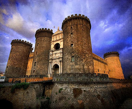 Castel Nuovo often called Maschio Angioino, is a medieval castle in the city of Naples, southern Italy. It is the main symbol of the architecture of the city