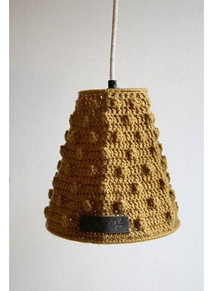 House of Oelie Hanglamp met bolletjes - Okergeel. 79,00