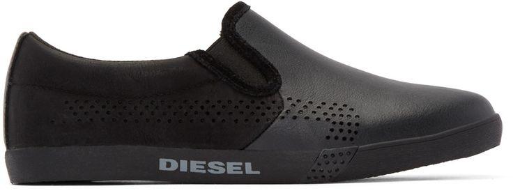 Diesel - Black Klubb Slip-On Sneakers