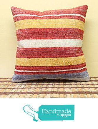 Rustic kilim pillow cover 16x16 inch (40x40 cm) Turkish Kilim pillow cover Home Decor Handmade Pillow cover Natural Pillow Cover from Kilimwarehouse http://www.amazon.com/dp/B019H6MOOC/ref=hnd_sw_r_pi_dp_seTCwb1AK5AKD #handmadeatamazon