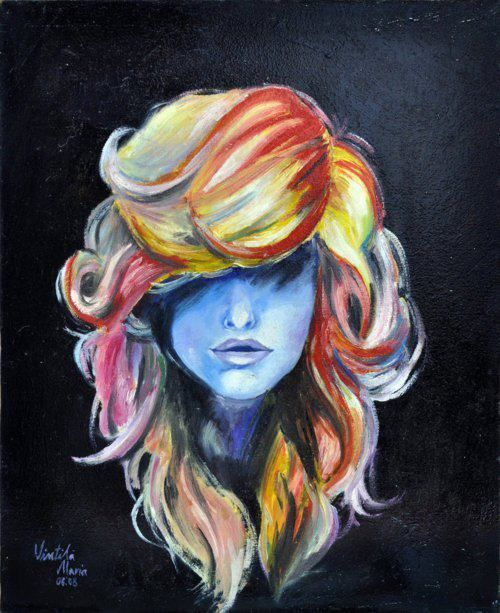 Awsome, Color, Colorful, Cute, Draw I Love This Hair Idea