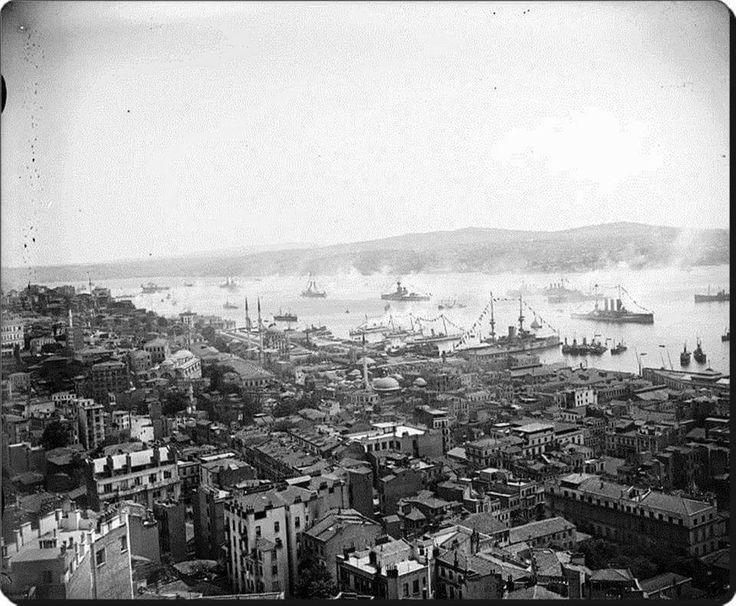 istanbul işgal yılları Galata kulesinden çekim 1919