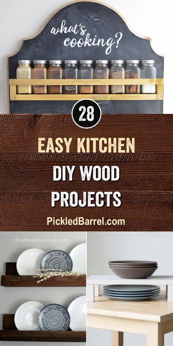 Easy Kitchen Diy Wood Projects Pickled Barrel Wood Diy Wood
