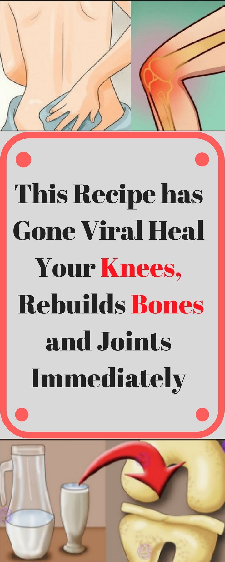 This Recipe has Gone Viral Heal Your Knees and Rebuilds Bones and Joints Immediately..!