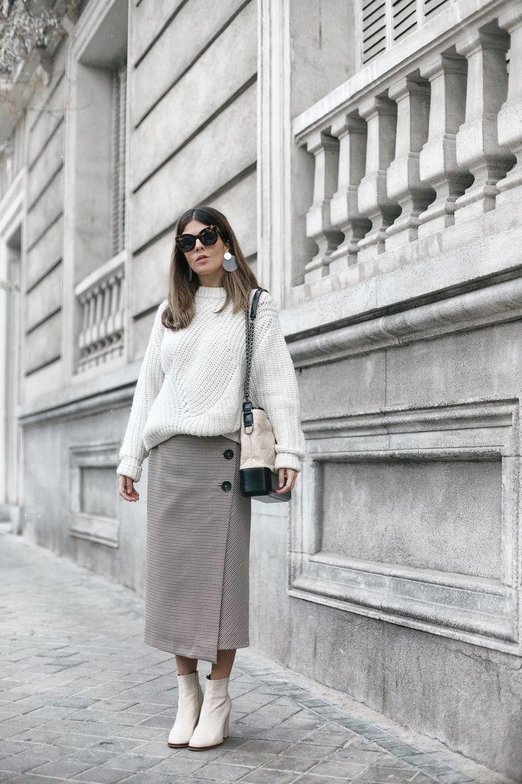 Midi Skirt + Oversized Knit  