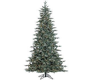 7.5' Prelit Frosted Crystal Balsam Tree by Valerie