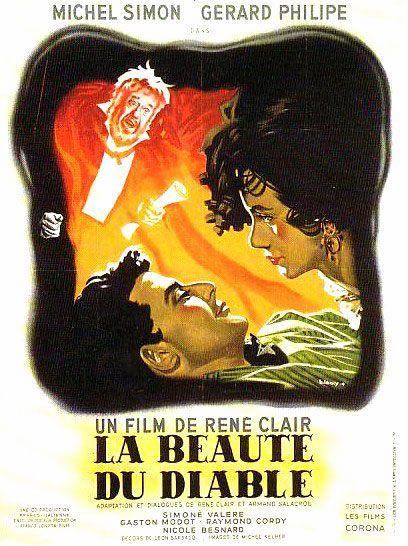 """""""La beauté du diable"""" de René Clair avec Gérard Philipe, Michel Simon, Simone Valère. 1950."""
