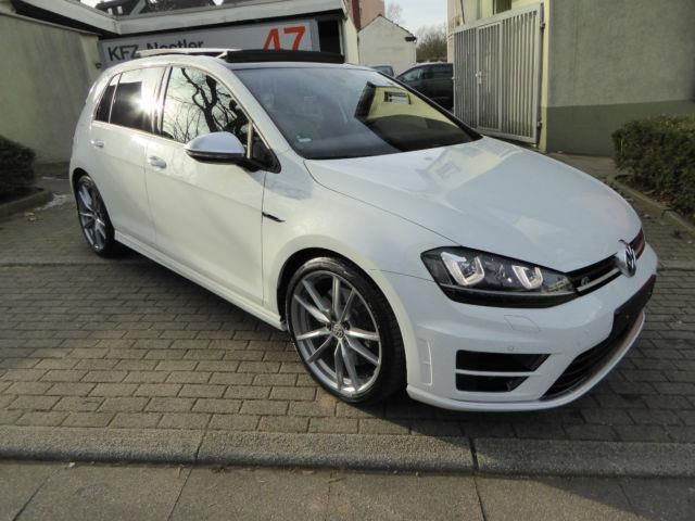 €27,000.00 (Gross) / €22,500.00 (Net)  Special model Golf R 300 hp 19 inch Pretoria alloy rims gray ACC Automatic Distance Control Navigation Discover Media El. Panoramaglas roof Business Premium Package incl Bluetooth Handsfree Car Kit Tinted windows in the rear Exterior mirror el.