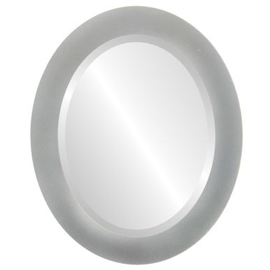 Decorative Bright Silver Oval mirrors in dozens of sizes. Free Shipping on all framed mirrors.