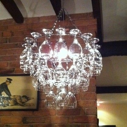 Wine Glass Chandelier!! I love this!!!