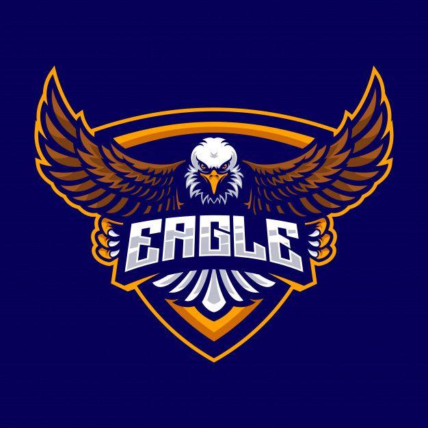 Eagle Logo For A Sport Team Premium Vect Premium Vector Freepik Vector Logo School Sport Bird Eagle Logo Logo Design Eagle Logo Design