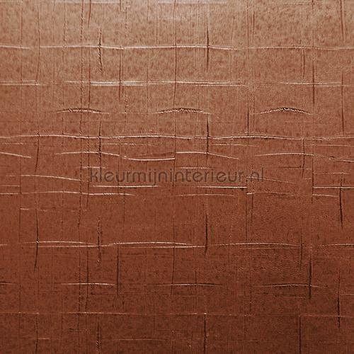 Cut Plaid bruin koper behang 51039, uit de collectie Elements 2 van Arte, koop je bij kleurmijninterieur