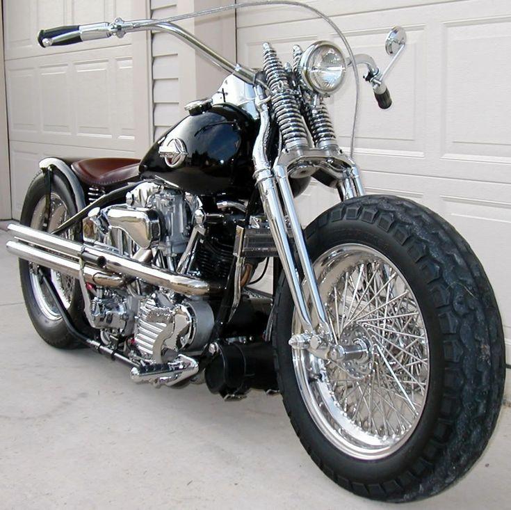 Classic motorcycle - knucklehead bobber for sale - Hledat Googlem #harleydavidsoncustom #harleydavidsonbaggerforsale