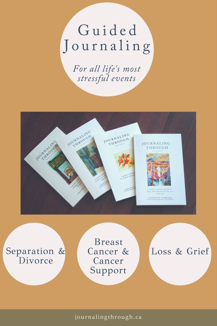 Guided journals for life's most stressful events.  #cancer #divorce #separation #lossgrief #Breastcancer #cancersupport #uniquegifts #journalingthrough