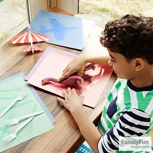 Summer Learning Activity: Sun Printing --- A creative project helps children understand the awe-inspiring effects of the August sun.
