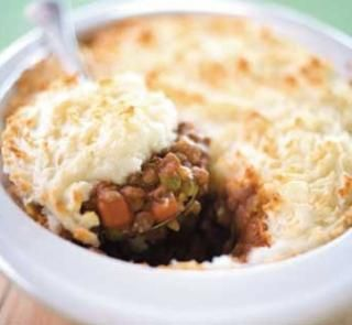 Humble pie with lentils