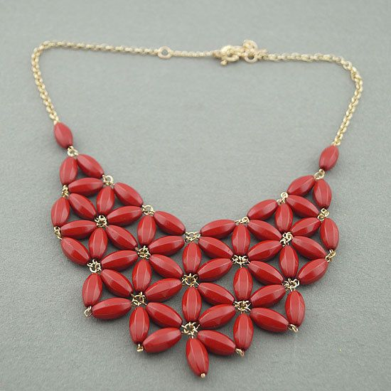 SALE flower statement necklace/bib by dollarjewelry on Etsy, $9.99