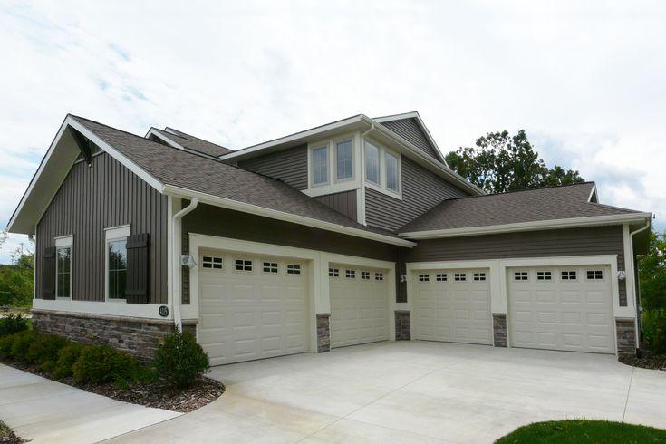 4 Bay Garage With Loft 62468dj: Four Car Garage By Eastbrook Homes