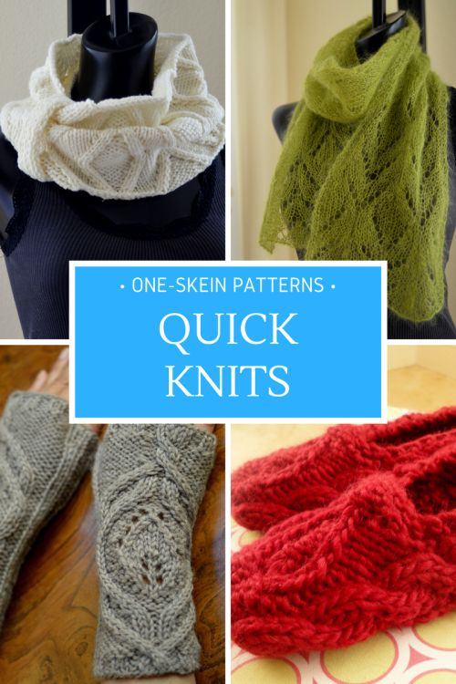 One-Skein Patterns. Great for quick knit gifts!