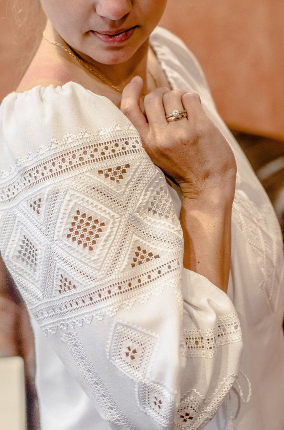 Traditional Hand Embroidered Women's Blouse by UKREmbroidery