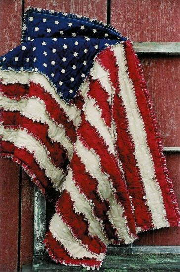 flag rag quilt. cute idea.