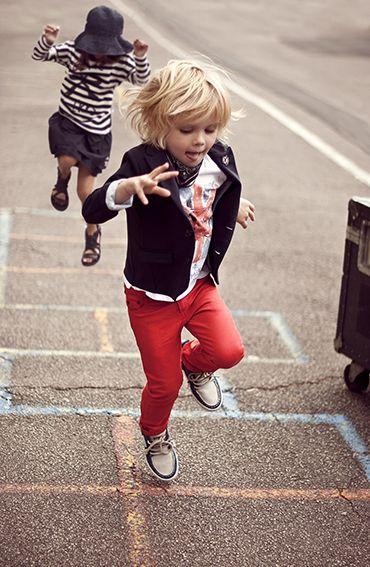 "hip looking ""play clothes"": Fashion Kids, Kids Style, Kids Fashion, Boys, Children, Baby, Kidsfashion, Red Pants"