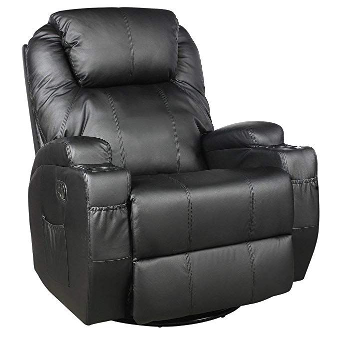 Massage Chair Heated Leather Recliner Lift Sofa With Remote Controller And Power Cord Review Recliner Chair Recliner Leather Recliner