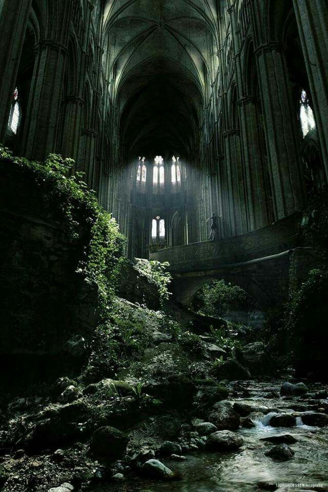 The abandoned Church of St. Etienne in France.  Photo by Jurg Roessen.