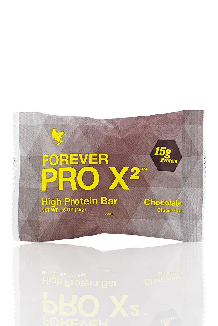 Forever PRO X2 offre una miscela brevettata di proteine della soia isolate e proteine provenienti dal siero di latte isolate e concentrate, insieme a 2 grammi di fibra alimentare in ogni deliziosa barretta, per contribuire alla formazione della massa muscolare e aiutarti a raggiungere i tuoi obiettivi nel mantenimento del peso. Gusto Cioccolato. Contenuto 45 gr. (art. 465)