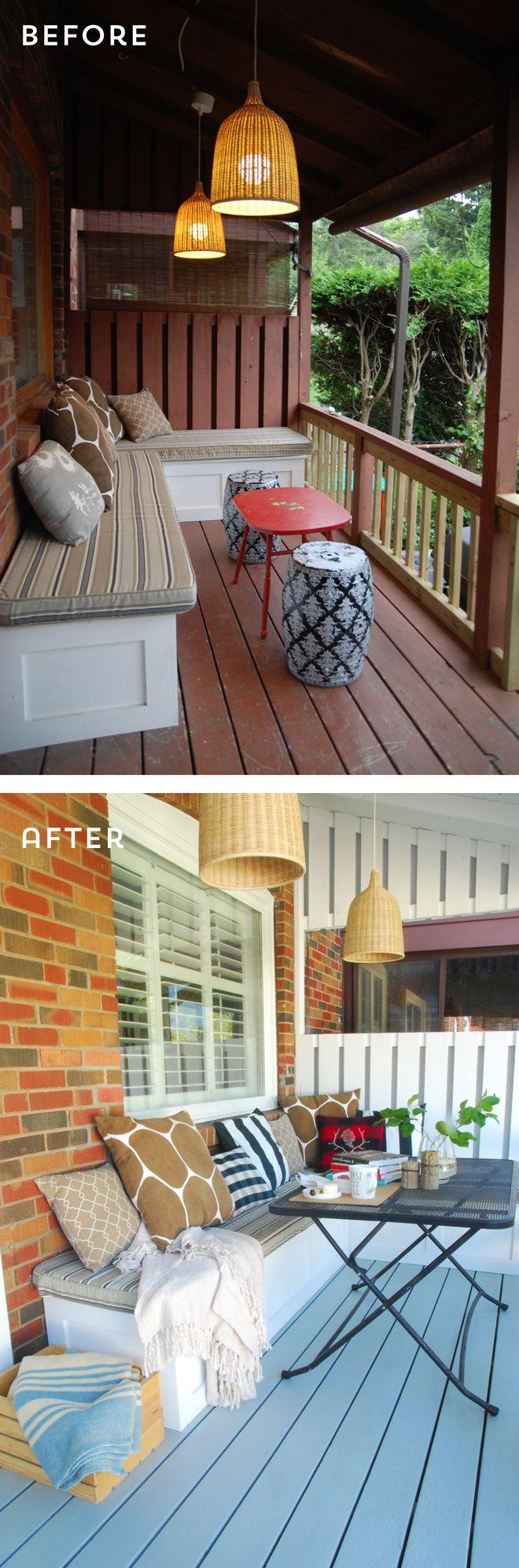 Rambling Renovators | Back porch makeover #beforeandafter
