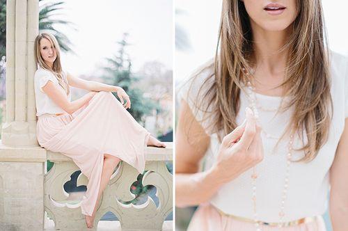 Blush dotted maxi skirt as worn by LAURA JANSEN by Rensche Mari #swishdresses #ss14