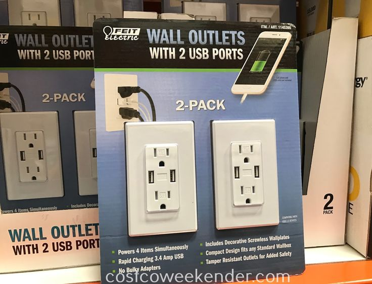 Feit Electric Wall Outlets with USB Ports Item 1145395 at Costco