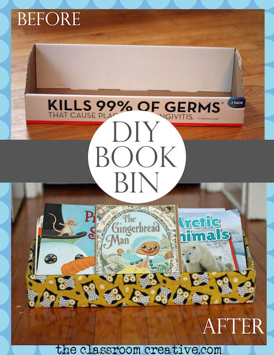 High Quality DIY Upcycled Book Bin Storage For Classrooms And Homes   Theclassroomcreative.com