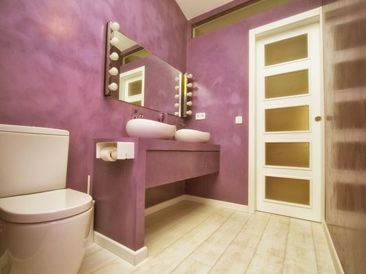 Microcemento Baños Limpieza:Banos De Color Morado