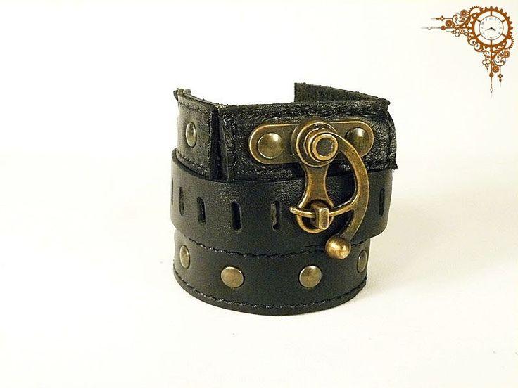 Steampunk Viktoriánus stílusú csuklópánt, karkötő