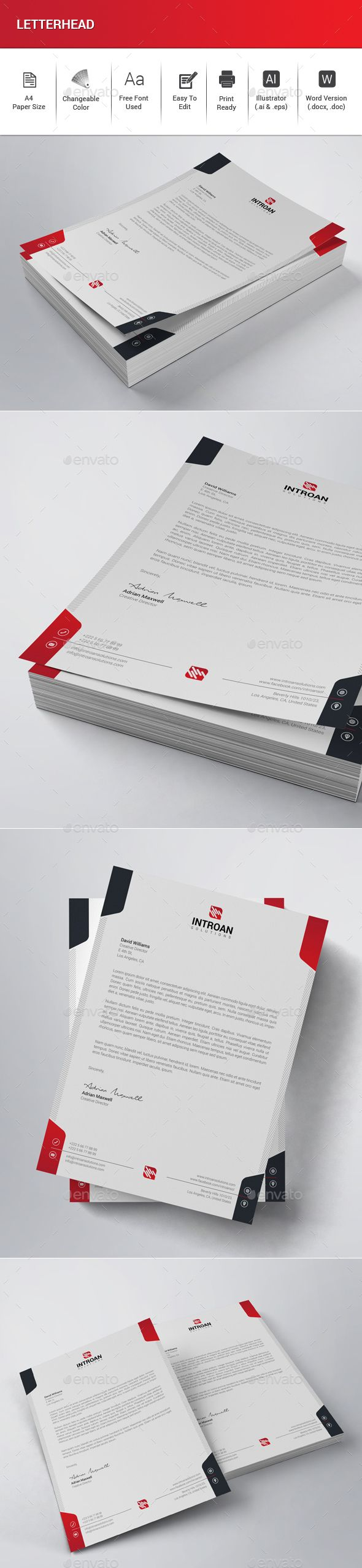 739 Best Letterhead Design Templates Images On Pinterest Design