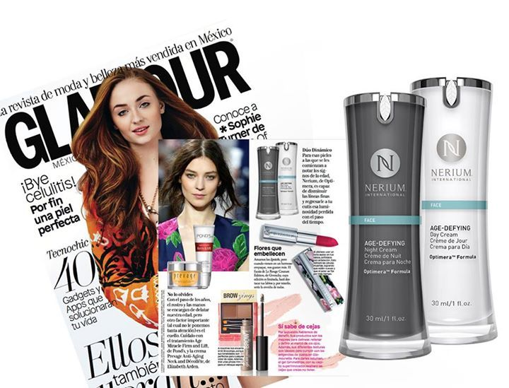 Nerium's Age-Defying Night and Day Cream gets the spotlight in Glamour México y Latinoamérica! #NeriumNews