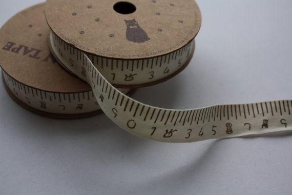 Cotton ribbon tape Japanese fabric ribbon 1m by HoneyCanada, $4.00
