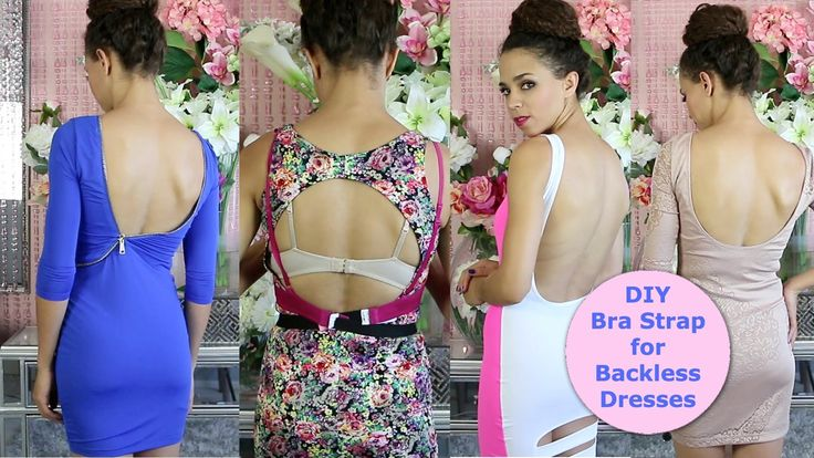 A 5 min DIY bra strap extension tutorial so you can wear backless and low-back tops and dresses with your own bra! You don't have to be afraid of backless to...