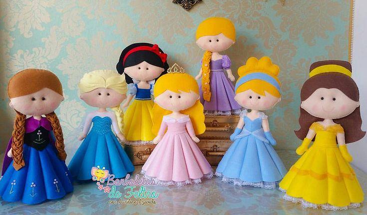 princesas em feltro