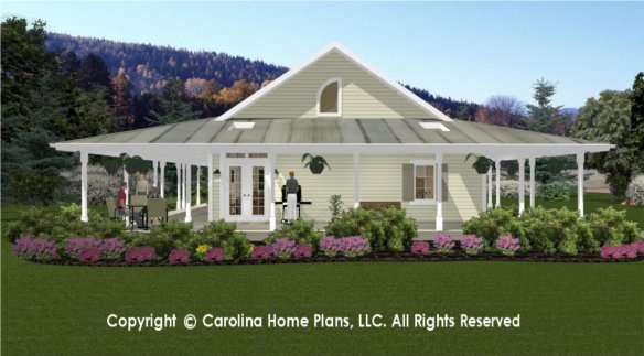 Wrap Around Porch With Skylights For More Natural Lighting House Plans With Porches
