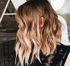 Balayage ombre hair