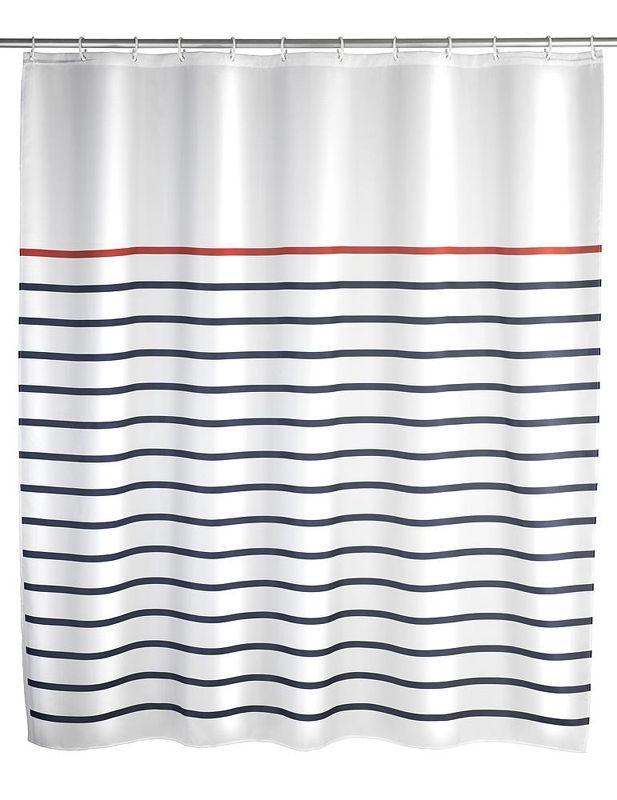Der Pflegeleichte Duschvorhang In Weiss Aus 100 Polyester Mit
