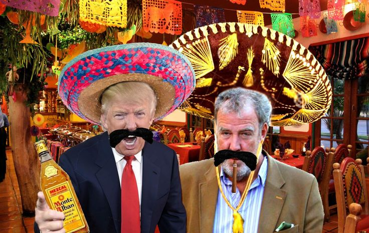 Trump in Mexican standoff -- Donald Trump today paid a flying visit to Mexico for talks with President Pena Nieto. Amongst his entourage was his new Foreign Policy adviser Jeremy Clarkson, hired in line with Trump's current policy of comedy advisers. Clarkson apparently had impressed Mr Trump with his no... -- #Clarkson, #Mexico, #Rochdale, #Trump -- http://wp.me/p7GOKB-1bs