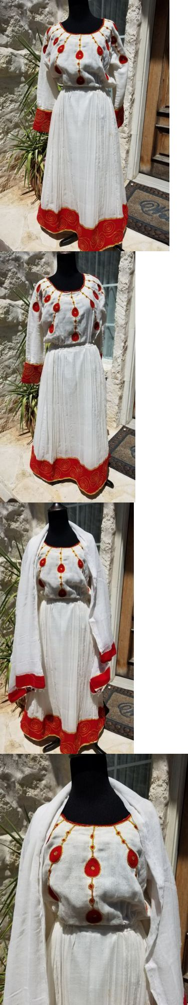 Africa 155241: Traditional Embroidered Ethiopian Habesha Eritrean Dress 2 Piece 100% Cotton -> BUY IT NOW ONLY: $224.99 on eBay!