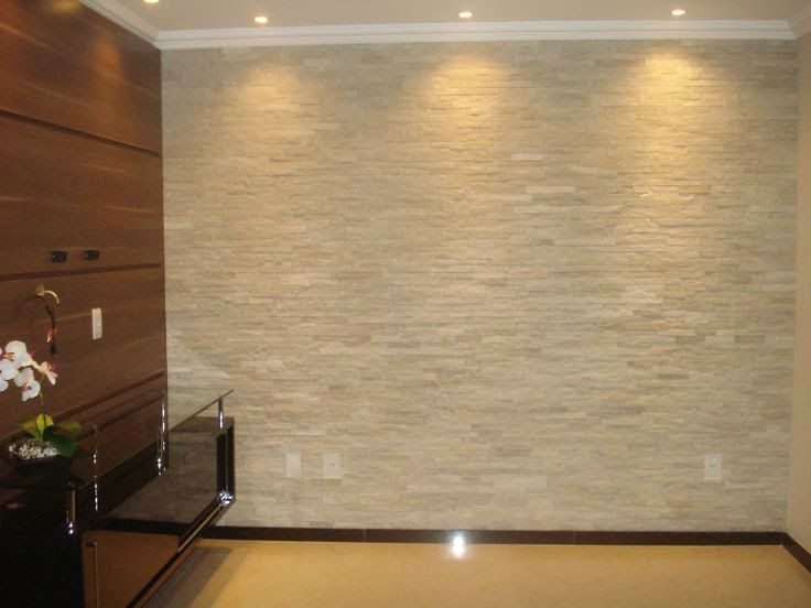 15 paredes revestidas com pedras para inspirar voc 15 - Sylvia salas instagram ...