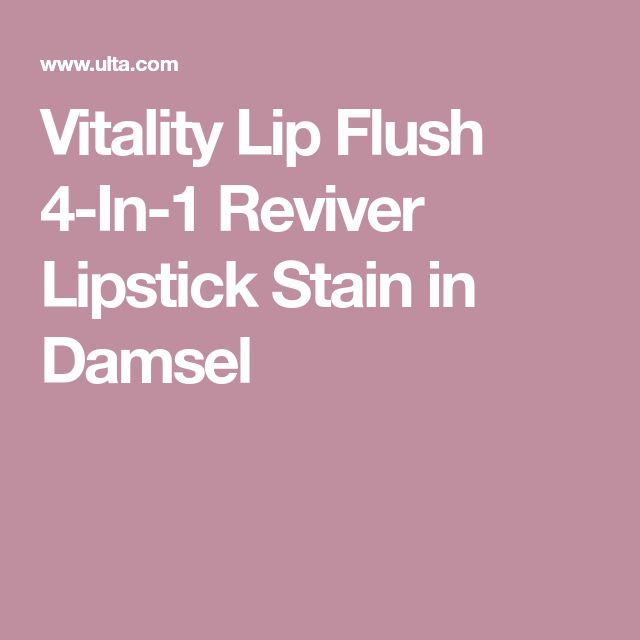 Vitality Lip Flush 4-In-1 Reviver Lipstick Stain in Damsel