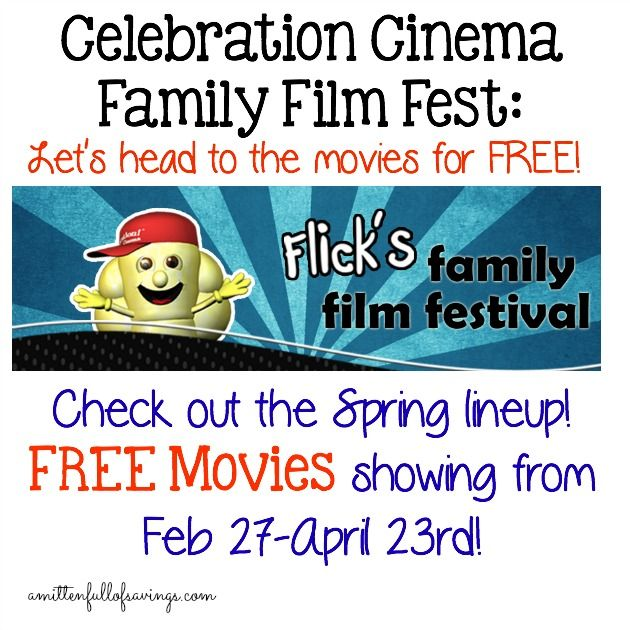 Celebration Cinema Family Film Fest- Check out the Spring Lineup for FREE Movies lovelansing, local, celebration cinema, free movies