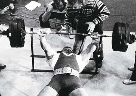 Bill Kazmaier bench press